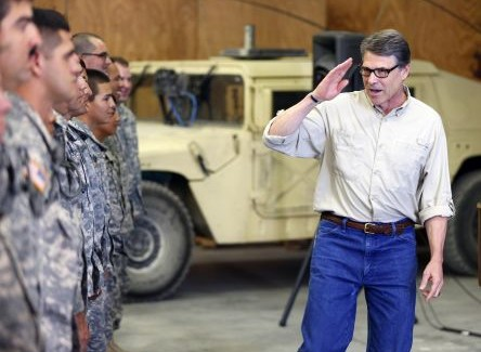 Gov. Perry Visits Texas National Guard Soldiers and Airmen Training for Deployment in Support of Operation Strong Safety