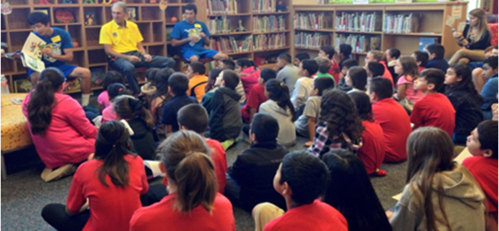 """Vaqueros launch """"Kicking & Reading"""" program presented by Raising Cane's Chicken Fingers"""