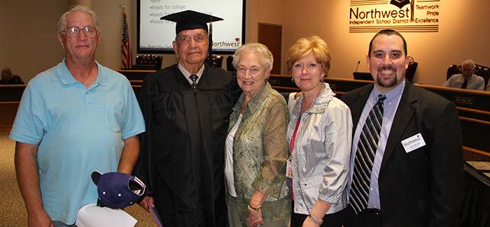 NISD Honors Justin Resident and Veteran with High School Diploma