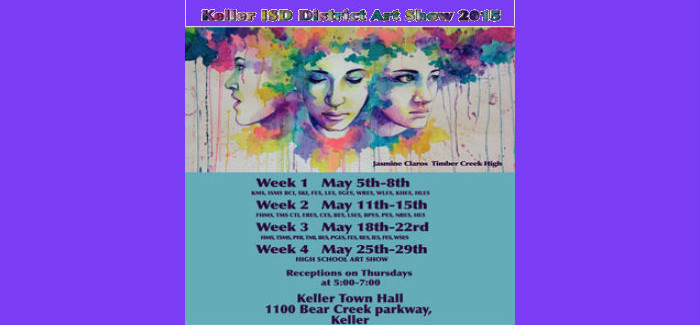 District-Wide Art Show May 5-29 at Keller Town Hall