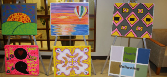 Art Students Paint Tiles For Healing Ceilings