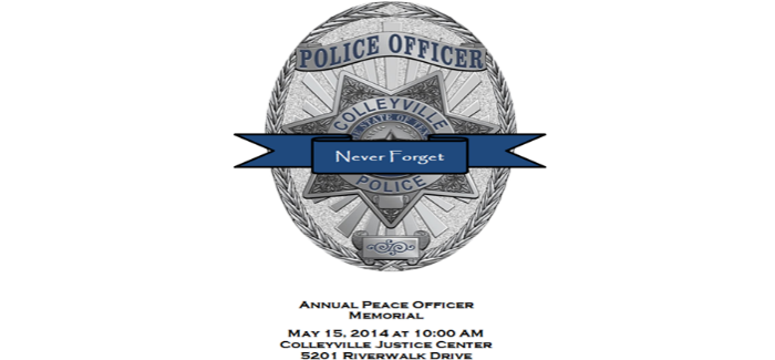 Colleyville Police Department to Honor Fallen Officers