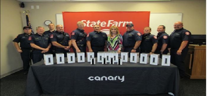 Saginaw Firefighters Receive Free Home Security Devices