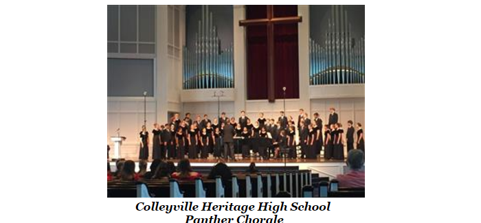 Colleyville Heritage Panther Chorale receives state honor