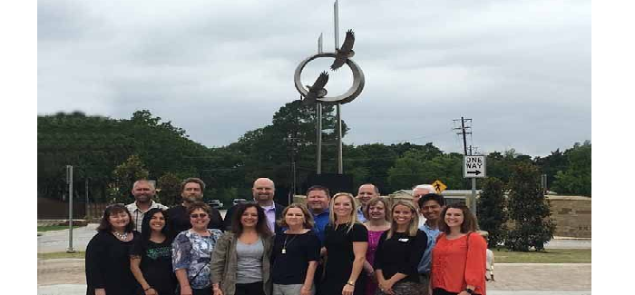 """""""Flying Together"""": Sculpture Dedicated at Dove, Peytonville and Sam School Rd. Roundabout"""