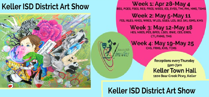 District-Wide Art Show Last day May 25 at Keller Town Hall