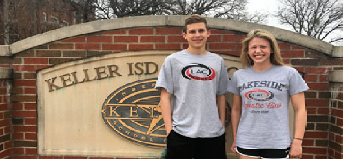 Two KISD Swimmers Headed for USA Swim Camp