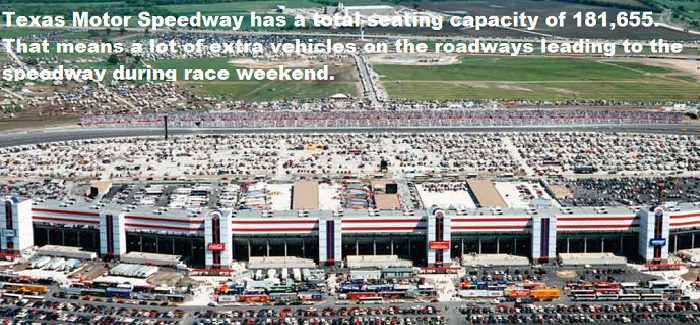 IRL races at TMS bring heavy traffic surrounding speedway