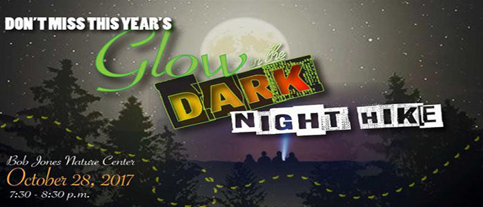bob jones nature center halloween glow in the dark nature hike