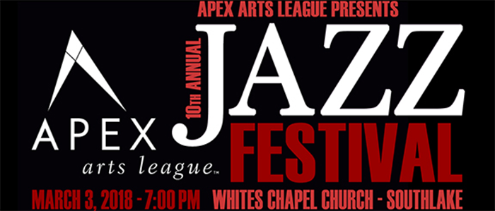 Presenting Apex Arts League's 10th Annual Jazz Festival Featuring The UNT One O'Clock Lab Band
