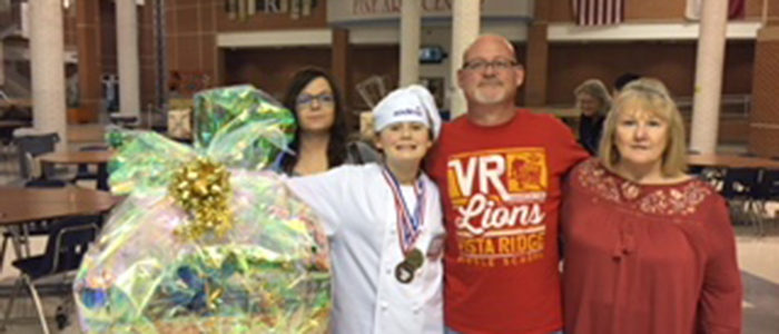 VRMS Student Crowned Keller ISD Future Chefs Champion