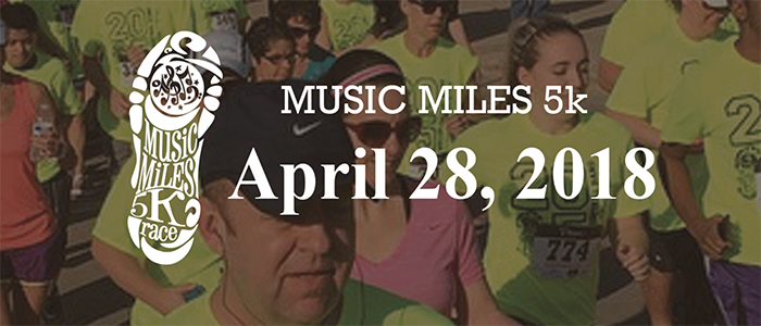 KISD: Save the Date: Music Miles 5K, April 28