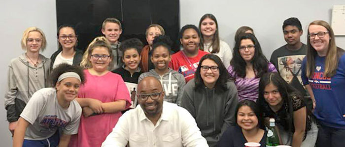 HEB ISD: Bedford Junior High English Students Visit with Author Kwame Alexander