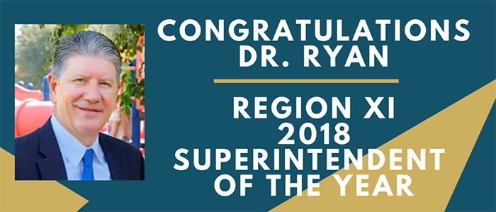 GCISD: Dr. Ryan named Region XI Superintendent of the Year