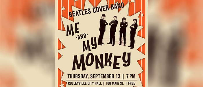 Colleyville: Me & My Monkey Playing Free Concert