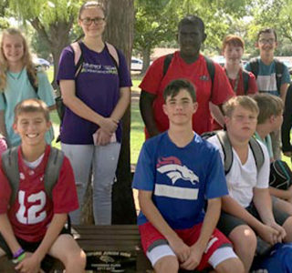 HEB ISD: Bedford Junior High Student Council Presents Legacy Bench