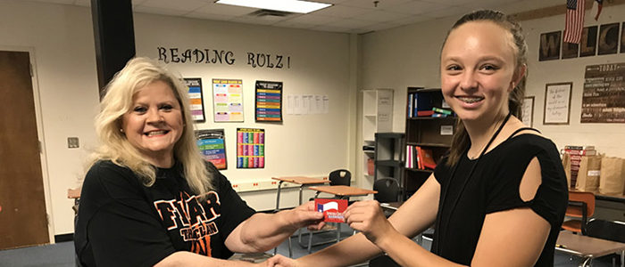 HEB ISD: Harwood Junior High Adopter's Donation Supports Staff Attendance