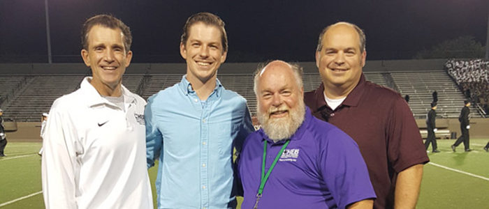 "Alumni and ""The Voice"" Contestant Visits HEB Marching Contest"