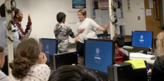 HEB ISD: Information Systems Expert Visits Euless Junior High Cyber Class
