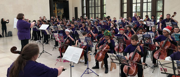 HEB ISD Suzuki Strings Students Perform at George W. Bush Library