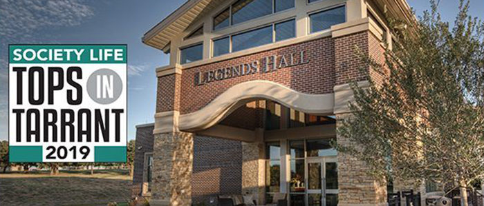 Legends Hall Named One of 2019's Top Local Event Venues in Society Life Magazine