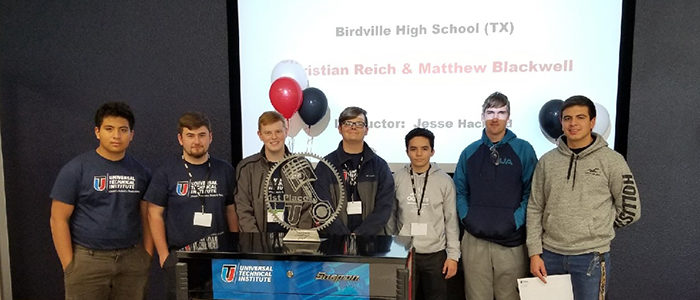 BISD: Automotive Technology Students Win Universal Technical Institute Top Tech Challenge