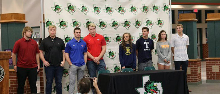 CISD: Dragon Athletes Sign Letters of Intent