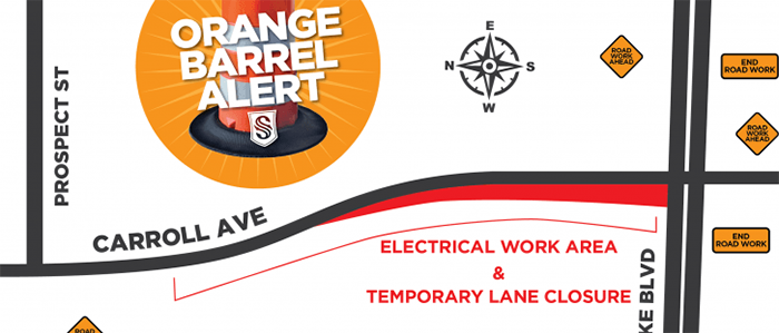Southlake: OBA: Right Lane Closure on N. Carroll Ave. for Electrical Rewiring