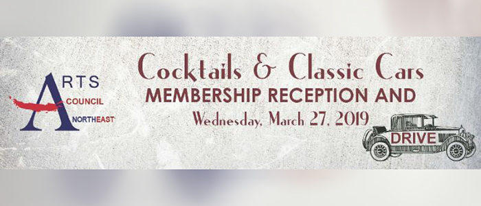 Arts Council Northeast: Join Us For Cocktails & Classic Cars – Free Event