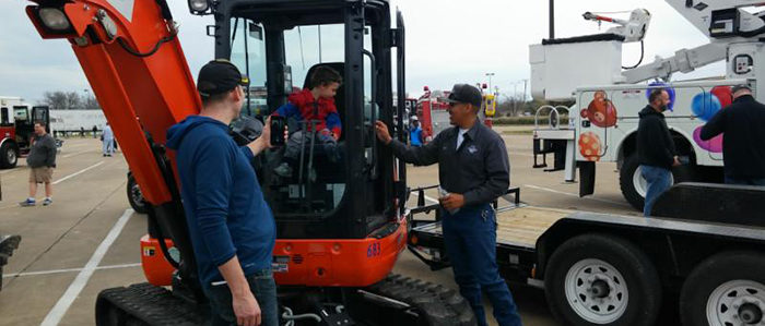 Public Works Participates in Touch a Truck Event