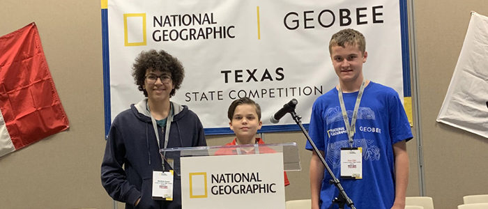 Three HEB ISD Students Qualify for Texas' GeoBee Championship