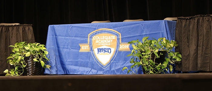 Collegiate Academy of Birdville Students Sign Scholarship Acceptance Letters