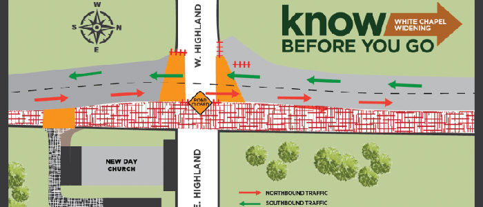 Southlake: Partial Intersection Closure Coming for N. White Chapel and Highland April 22