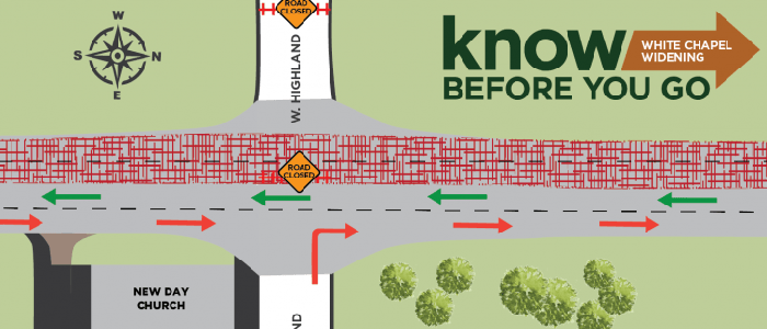 Southlake: Roundabout taking shape at N. White Chapel and Highland: Closure of W. Highland Coming Early June