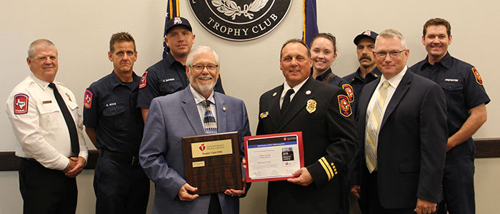 Trophy Club: Fire Dept. Receives AHA Mission: Lifeline EMS Silver Recognition Award