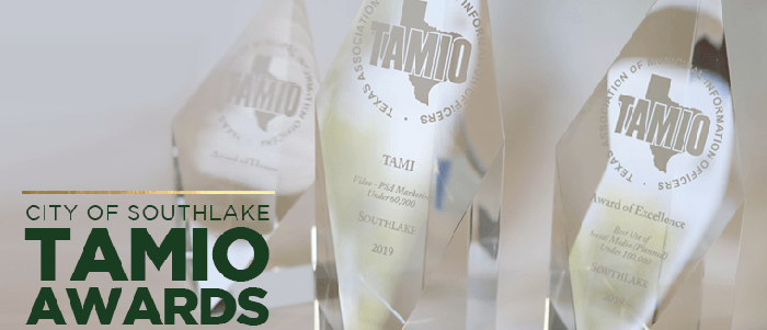 Southlake: City Receives Three TAMIO Awards For Communication Excellence
