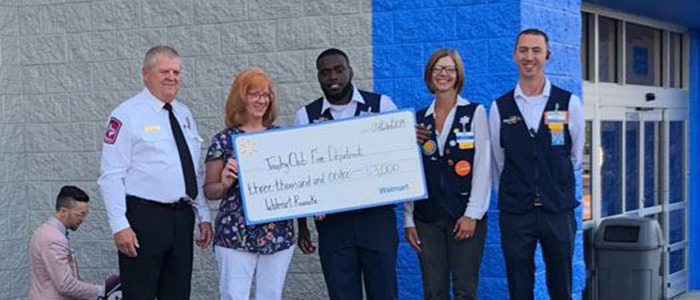 Trophy Club: Fire Dept Receives Grant from Walmart