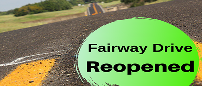Grapevine: Fairway Drive Reopened