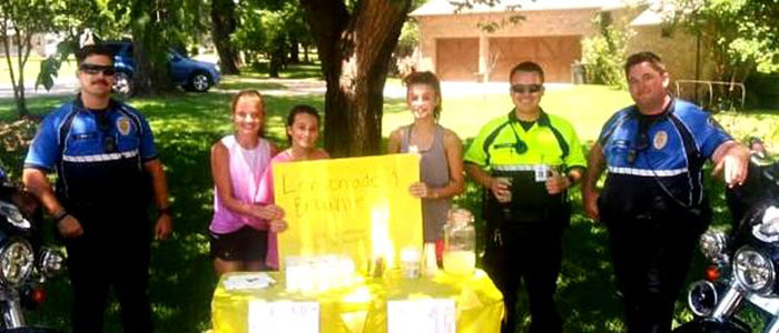 Colleyville Police Support Local Small Business