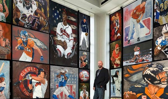"FRHS ART INSTRUCTOR PRESENTS ""THE ART OF SPORT"" EXHIBIT AT ELM STREET STUDIO"