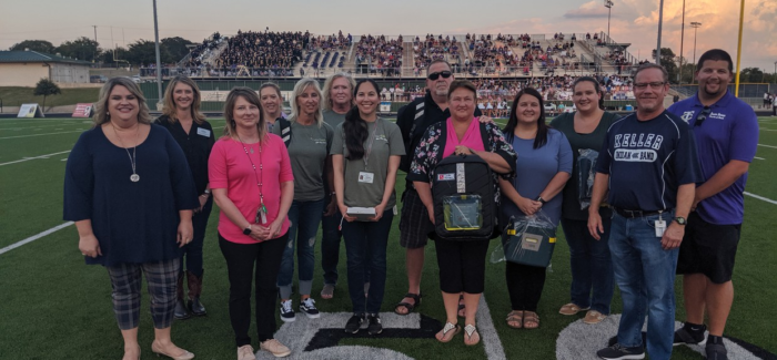 RYAN POWELL MEMORIAL FOUNDATION AND PROJECT ADAM TEAM UP TO DONATE PORTABLE AED MACHINES TO KISD MARCHING BANDS