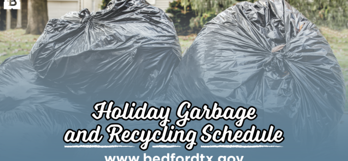 Bedford – Holiday Garbage and Recycling Schedule