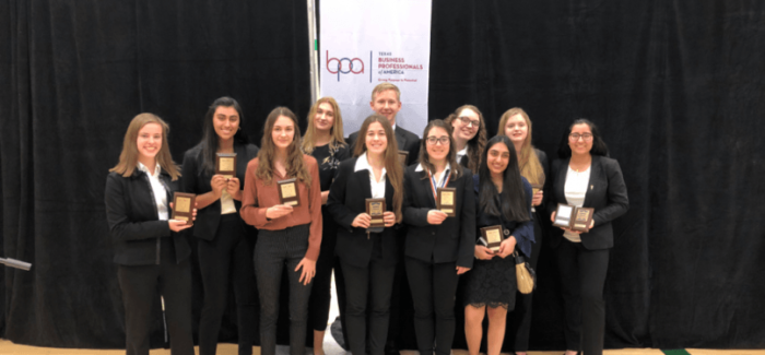 Carroll ISD BPA Team Hosts Successful Conference; Many Advance to State
