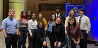 HEB ISD Students Take Top Spots at Rotary Speech Contest