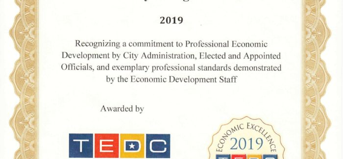 City of Saginaw Receives Economic Excellence Award