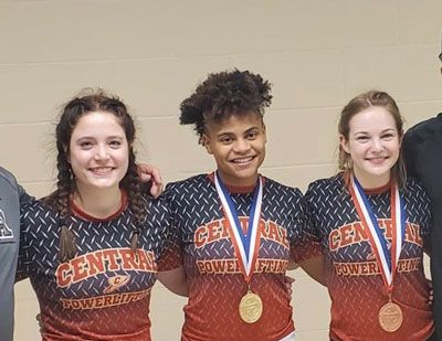 CENTRAL HS GIRLS POWERLIFTERS HEADED TO STATE