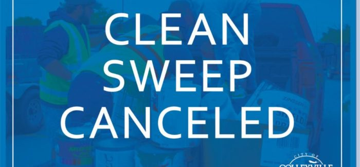 Clean Sweep Canceled Due to Inclement Weather