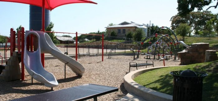 Park Playground Areas Being Disinfected Daily
