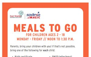 Important update to FWISD's Meals to Go program
