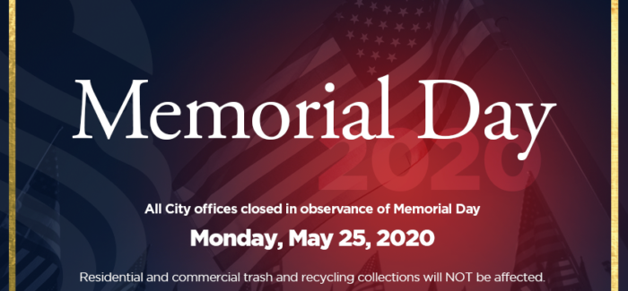 Southlake Closed in Observance of Memorial Day